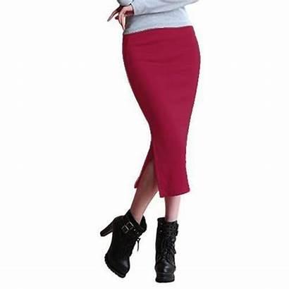 Mid Calf Pencil Chic Skirt