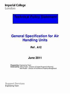 Ahu Specifications