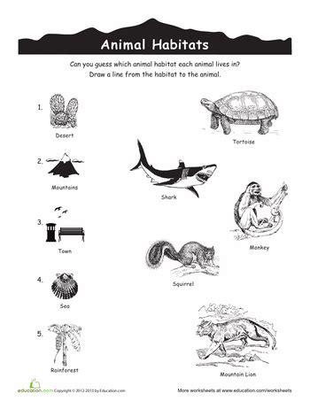 animal habitats match up cc cycle 2 science