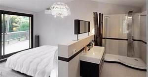 Petite Salle De Bain Ouverte Sur Chambre : pingl par strikto concevez votre maison sur suites parentales en 2019 salle de bains ~ Melissatoandfro.com Idées de Décoration