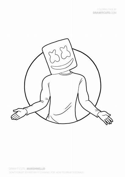 Marshmello Draw Fortnite Easy Drawing Super Season