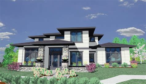 Prairie Style House Plan   85014MS   Architectural Designs