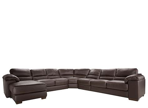 Cindy Crawford Auburn Hills Leather Sofa Reviews Home