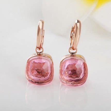 pomellato replica replica orecchini pomellato nudo in oro rosa con quarzo