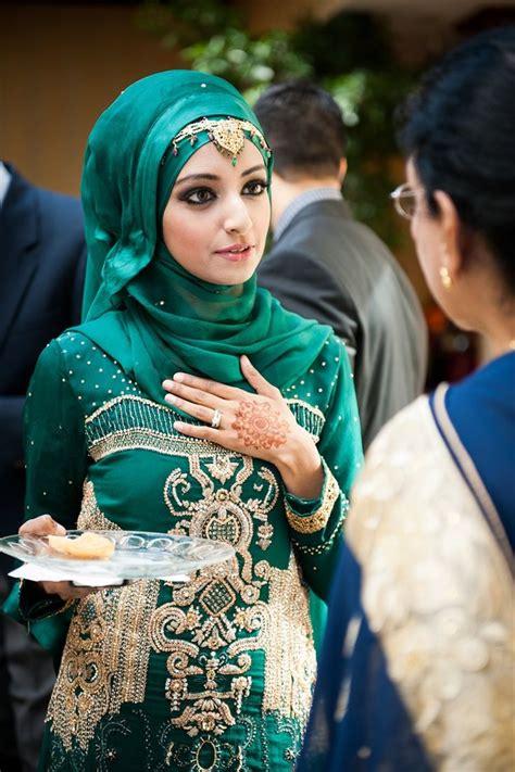 formal hijab styles  green
