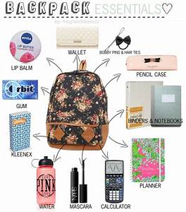 Ariana inspired backpack essentials. *Requested* Backpack ...