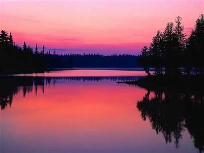 Ontario Lake Canada North America Waters Shining