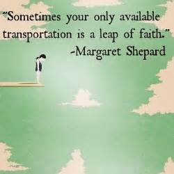 Sometimes Your Only Transportation Is a Leap of Faith