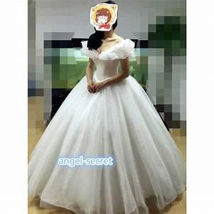 p301 movie cosplay costume cinderella 2015 ella white With cosplay wedding dress