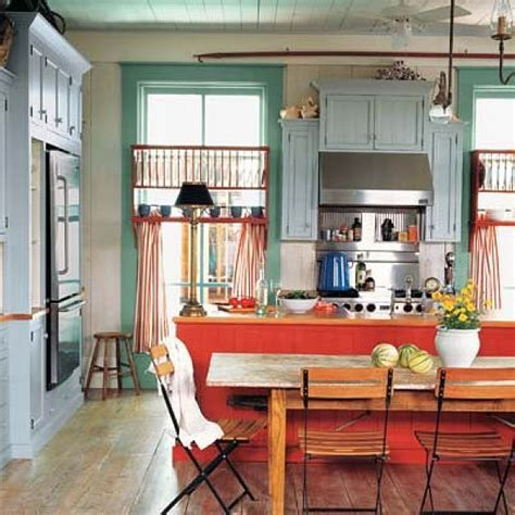 white kitchen with colorful accents 6 tips to using coral in the kitchen 1833
