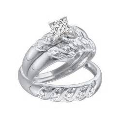 his and wedding ring sets 1 carat trio wedding rings set with his and rings jewelocean