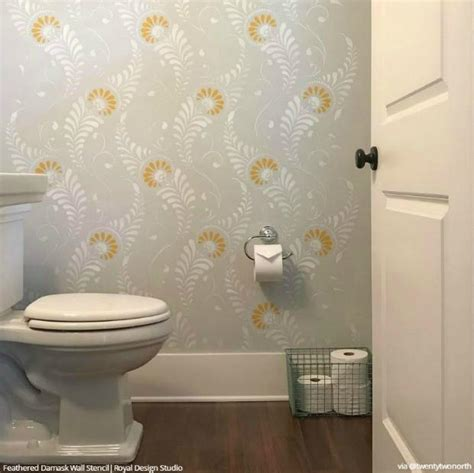bathroom wall stencil ideas wall stencils the secret to remodeling your bathroom on a
