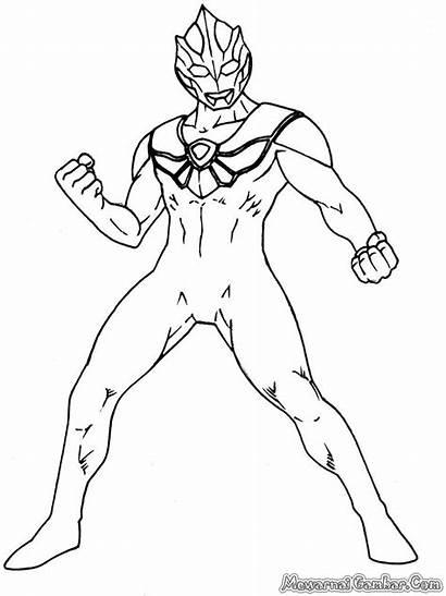 Ultraman Mewarnai Gambar Coloring Sketsa Untuk Kartun