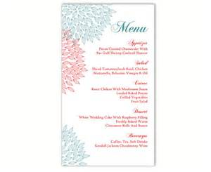free wedding menu templates wedding menu template diy menu card template editable text word file instant blue