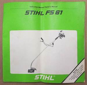 Good Oem Stihl Fs 61  4114 Engine  Trimmer Brushcutter