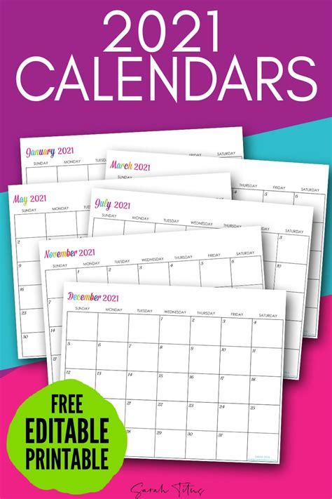 custom editable   printable calendars sarah