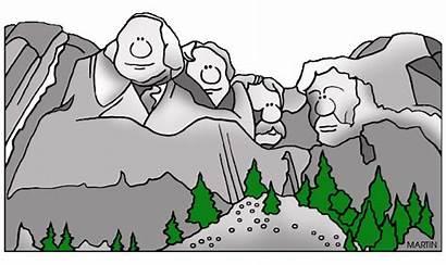 Landmarks National Clipart Rushmore Mount Park Parks