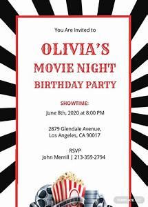 Movie Night Invitation Template Free Jpg Illustrator