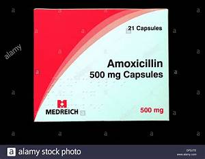 Amoxicillin 500 mg tablets, capsules, pack, antibiotic ...