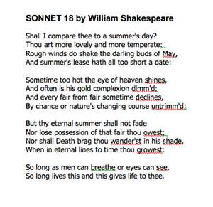 a description of sonnets in an insight into shakespeares mind Shakespeare's sonnets & poems providing insight into its possible the word creatures takes the reader's mind to genesis 128 and god's instructions to.