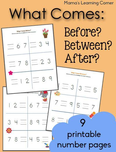 what comes before between and after counting worksheets 394 | 4be35f9d6b18b5d82c2667f2517ba728