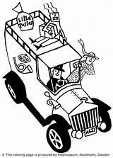 Postal Workers Postboten Coloring Varityskuvia Tulosta Drucken sketch template