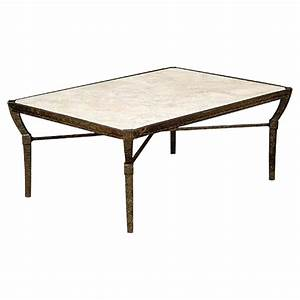 Jane modern french stone top metal outdoor coffee table for Metal coffee table with stone top
