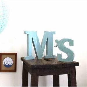 Lettre En Bois A Poser : lettres en bois m 39 s poser couleur personnalisable ~ Teatrodelosmanantiales.com Idées de Décoration