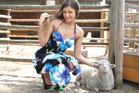 maria ryabushkina maria thalia melena sheep farm hd wallpaper