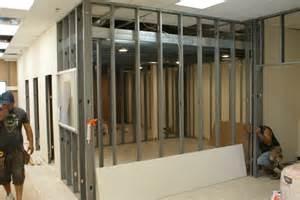 Framing Concrete Basement Walls by Salt Escape Metal Stud Framing Marshall General