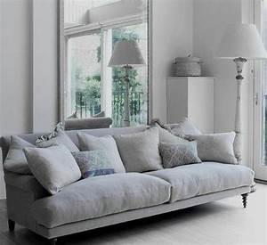 deco salon gris 88 super idees pleines de charme With peinture pour canapé cuir blanc