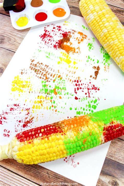 easy corn cob craft painting for corn craft ideas 620 | corn cob craft painting pin1 683x1024