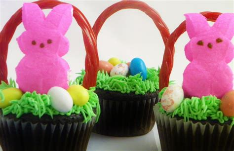 Ideas For Easter Cupcakes by Easter Basket Cupcakes Around My Family Table