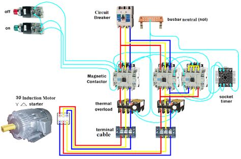 dol starter motor wiring diagram star delta