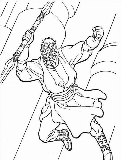 Darth Maul Coloring Pages Wars Star Printable
