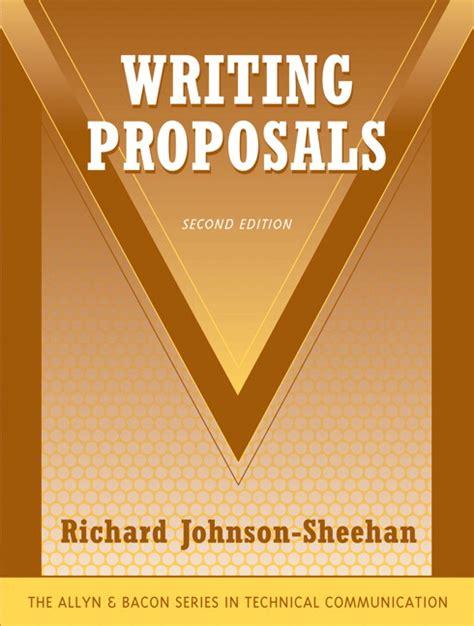 johnson sheehan exam copy for writing proposals
