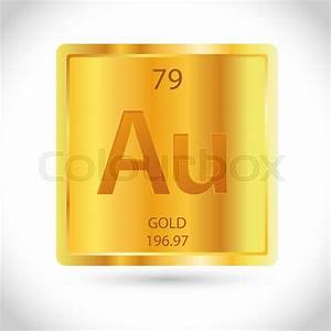 Vector Stock Of Golden Square With Gold Chemical Element
