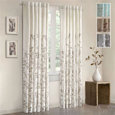 Curtain Panels by Floral Window Curtain Panel 84 Inch Rod Pocket Curtains