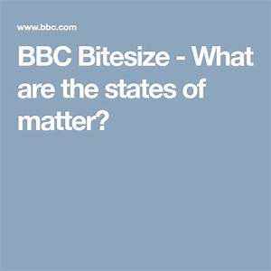 What Are The States Of Matter