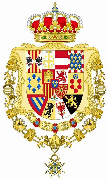 Arms Coat Spain Royal Wikipedia Golden Greater