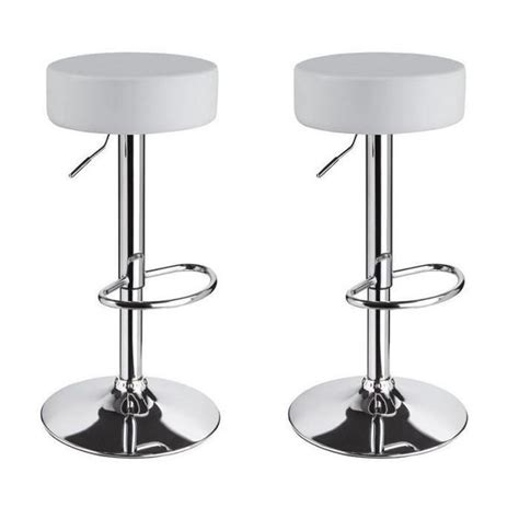 tabourets de bar blancs lot blanc tabouret simili cuir la decoration b conforama grande with