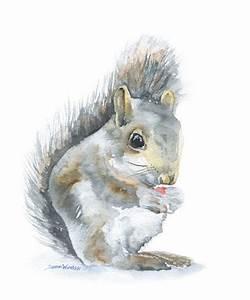 Simple Squirrel Painting