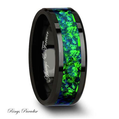 mens engagement ring wedding band ceramic ring mens wedding band
