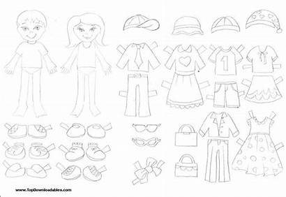 Doll Paper Template Boy Printable Clothes Templates