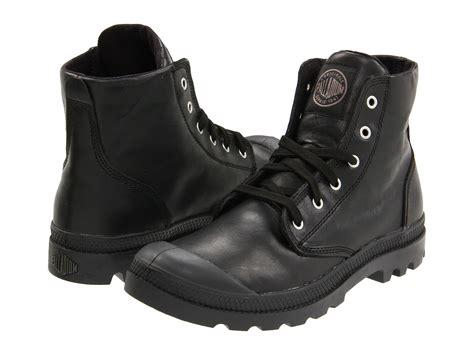 Palladium Pampa Hi Leather In Black For Men