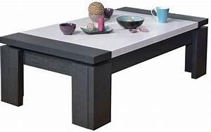 Table Basse Grise Pas Cher : table basse blanche et grise design en image ~ Teatrodelosmanantiales.com Idées de Décoration