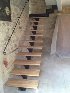 Escalier Droit Bois : ferronnier pour rampe d 39 escalier en fer forg arles 13200 ~ Premium-room.com Idées de Décoration