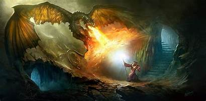 Wizards Dragon Wizard Dragons Powerful Artwork Fantasy