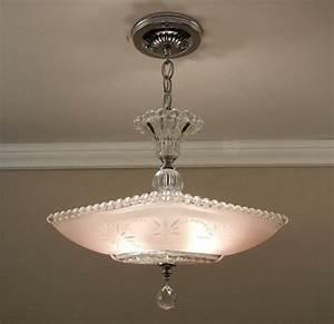 Vintage american art deco chandelier starburst candlewick