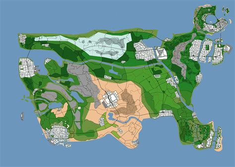 U.s. As A Gta Map. Concept Map (7000x5000) Gta Usa